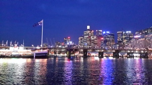 Darling Harbour.   Romantic isn't it?