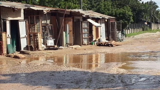 It's not houses with a view of a river.  It's a road.