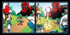 deadpool-meets-the-smurfs-photo-u1