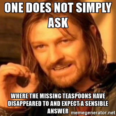 missing teaspoons