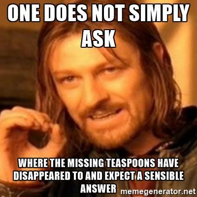 missing teaspoons